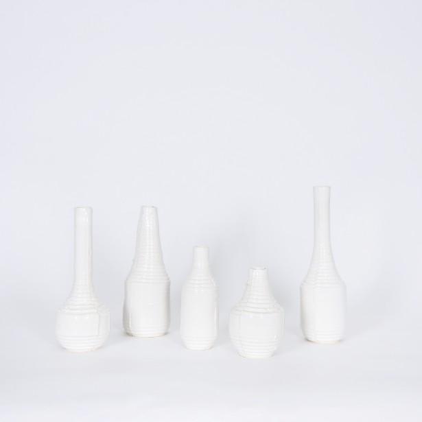 Cette série de vases a été baptisée La quintette. Elle a été réalisée par Rosemarie Faille-Faubert. (Photo fournie par L'Objet)