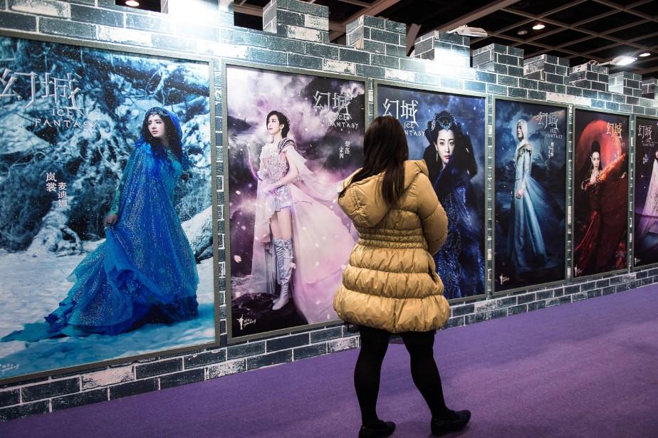 Pour la première fois en février, le box-office... (Photo Philippe LOPEZ, AFP)