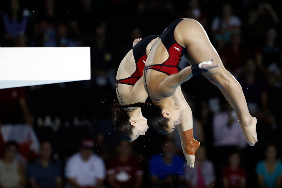 Meaghan Benfeito et Roseline Filion... (Photo Rob Schumacher, archives USA Today)