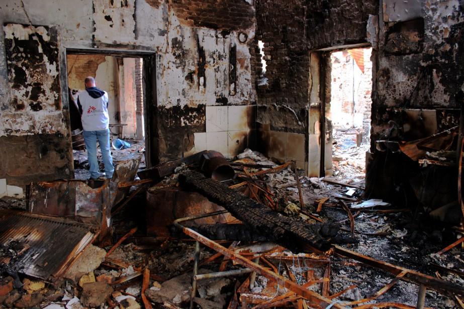 L'attaque par un avion des forces spéciales américaines... (PHOTO NAJIM RAHIM, AGENCE FRANCE-PRESSE)