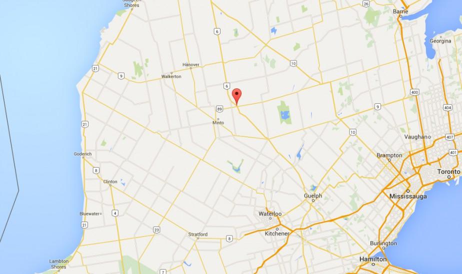 Environnement Canada a révélé que la première... (IMAGE TIRÉE DE GOOGLE MAPS)