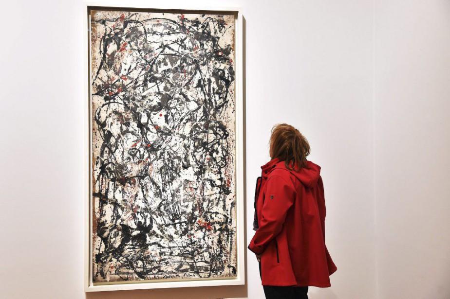 Enchanted Forest de Jackson Pollock.... (PHOTO AFP)