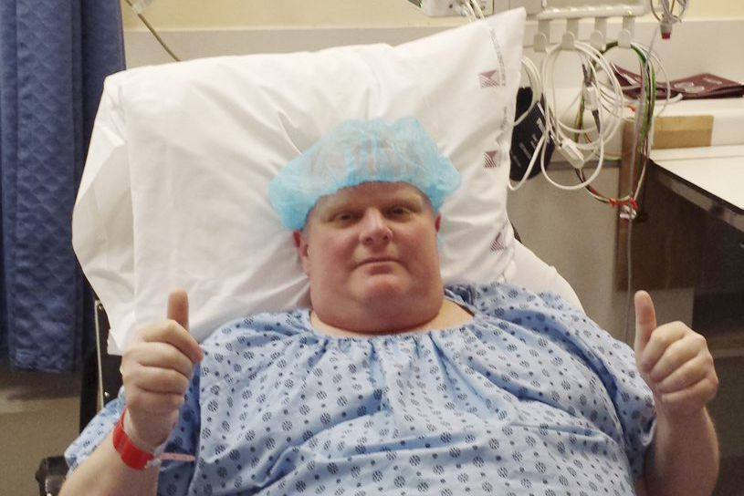 RobFord a reçu un diagnostic de cancer en... (PHOTO AP/COURTOISIE)