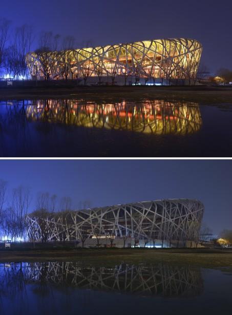 Le «Nid d'oiseau», à Pékin, en Chine (Agence France-Presse)