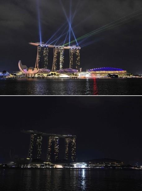 L'hotel Marina Bay Sands, à Singapour (Agence France-Presse)