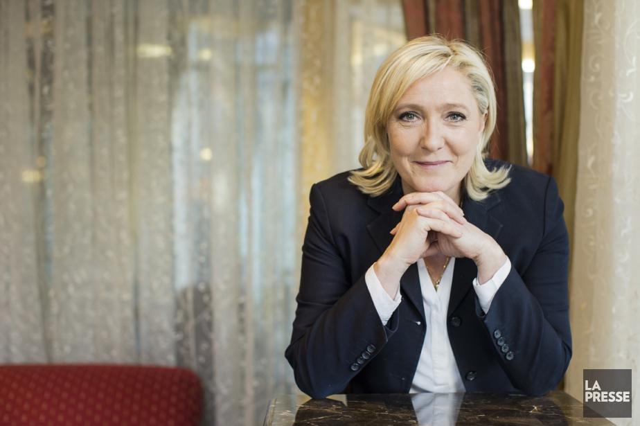 La dirigeante du Front national, parti français d'extrême... (Photo Édouard Plante-Fréchette, La Presse)