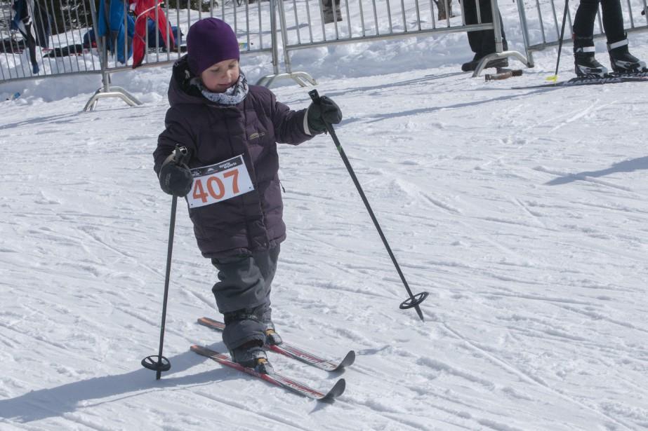 Il y avait des skieurs de tous les âges au Tour du mont Valin, comme Anaïs Rouleau - Ste-Croix, cinq ans. (Photo Le Progrès-Dimanche, Michel Tremblay)