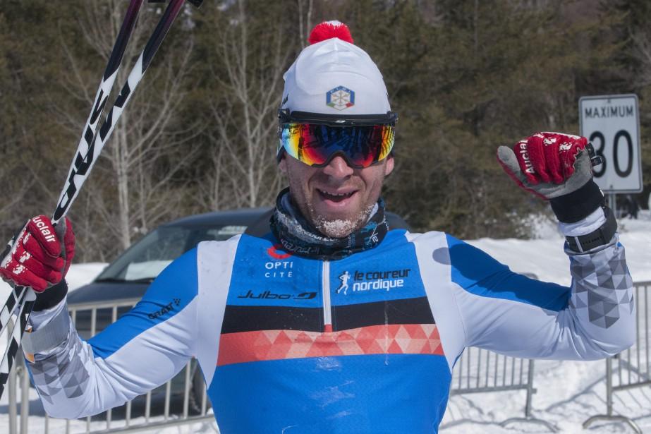 Vincent Ruel est demeuré le roi du 45km style libre, en remportant l'épreuve pour une cinquième année d'affilée. (Photo Le Progrès-Dimanche, Michel Tremblay)