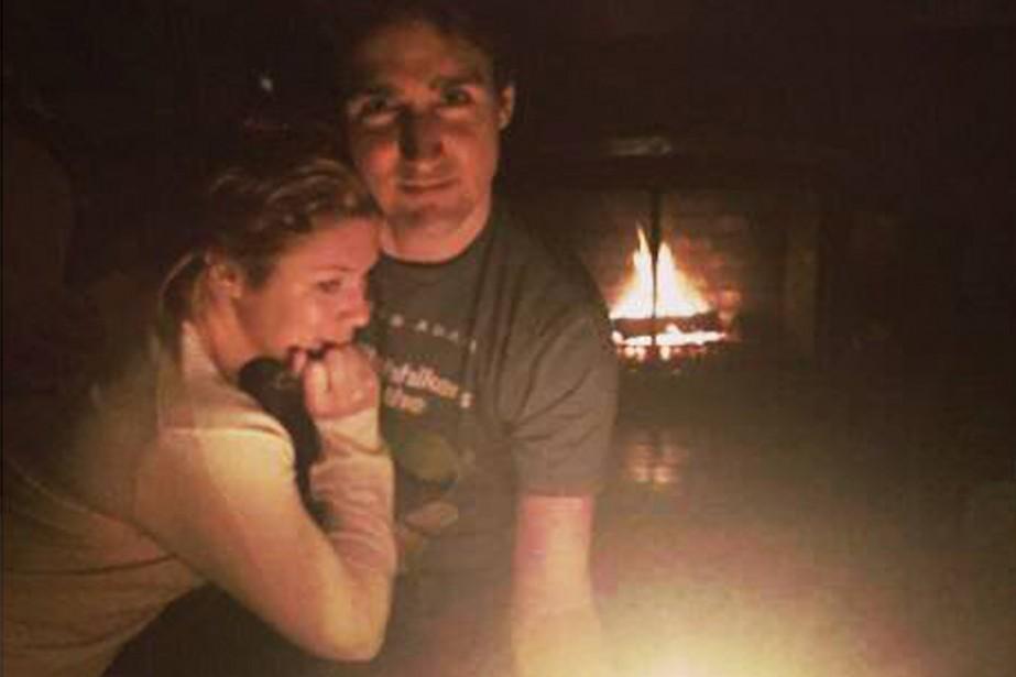 Justin Trudeau et sa femme Sophie Grégoire ont... (PHOTO TIRÉE DE FACEBOOK)
