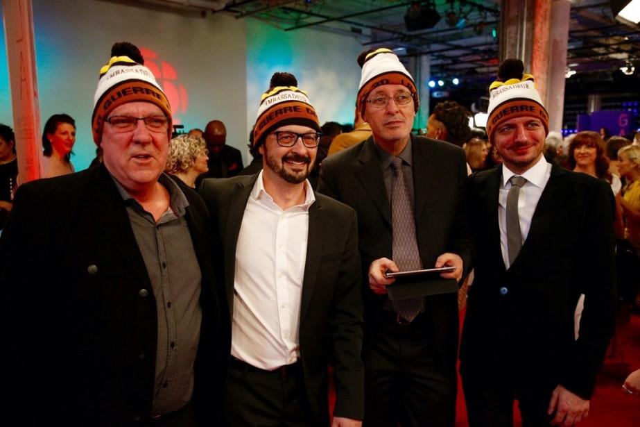 L'équipe de <em>La Guerre des Tuques 3D</em> (Photo Olivier Jean, La Presse)
