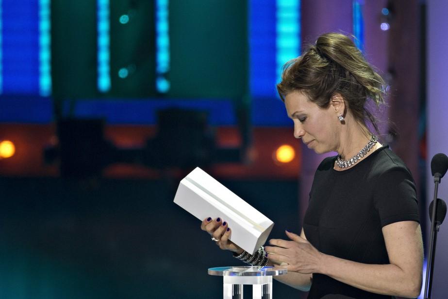 Céline Bonnier a remporté le Trophée de la meilleure actrice.PHOTO OLIVIER JEAN, LA PRESSE ()