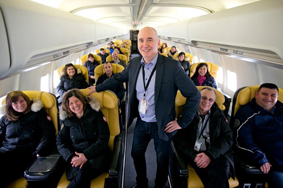 Le vice-président de Nolinor MarcoPrud'homme et son équipe... (PHOTO DAVID BOILY, LA PRESSE)