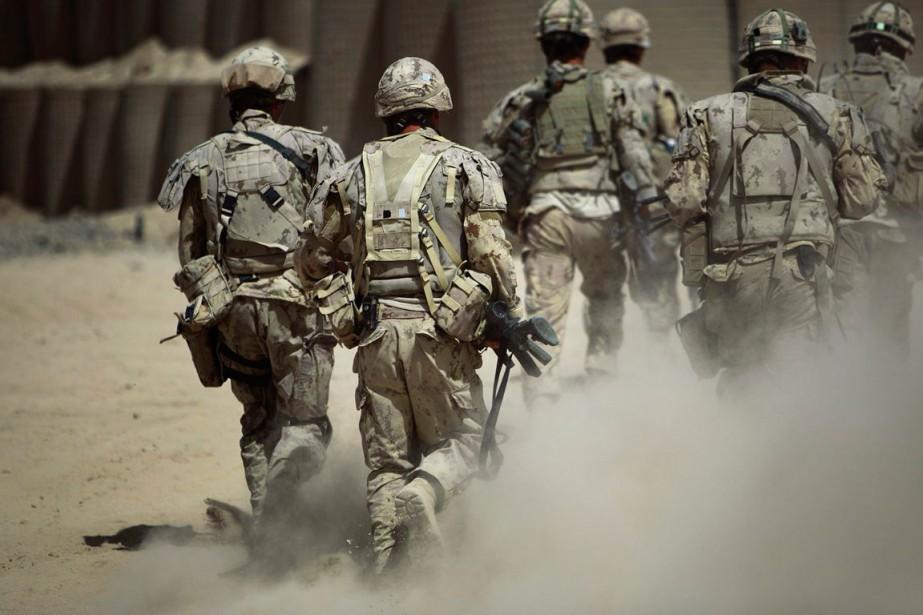 Des soldats canadiens en Afghanistan.... (Archives AP)