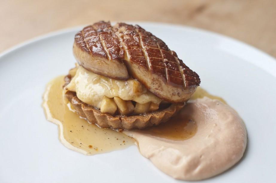 Le restaurant Lili.Co offre une tartelette aux pommes,... (PHOTO FOURNIE PAR LILI.CO)