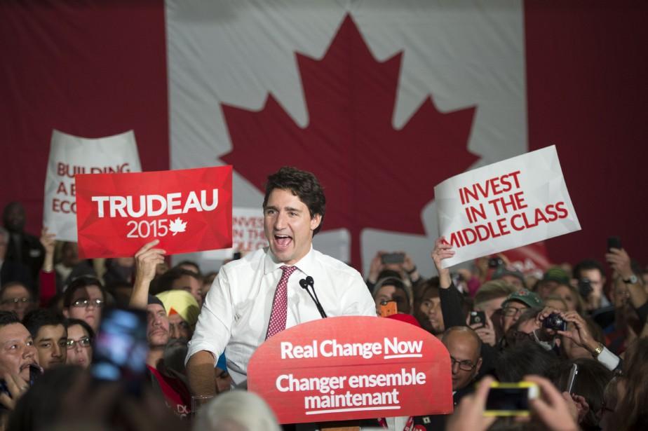 Justin Trudeaua déboursé 183000$ pour sa réélection dans... (Photo Paul Chiasson, Archives La Presse Canadienne)