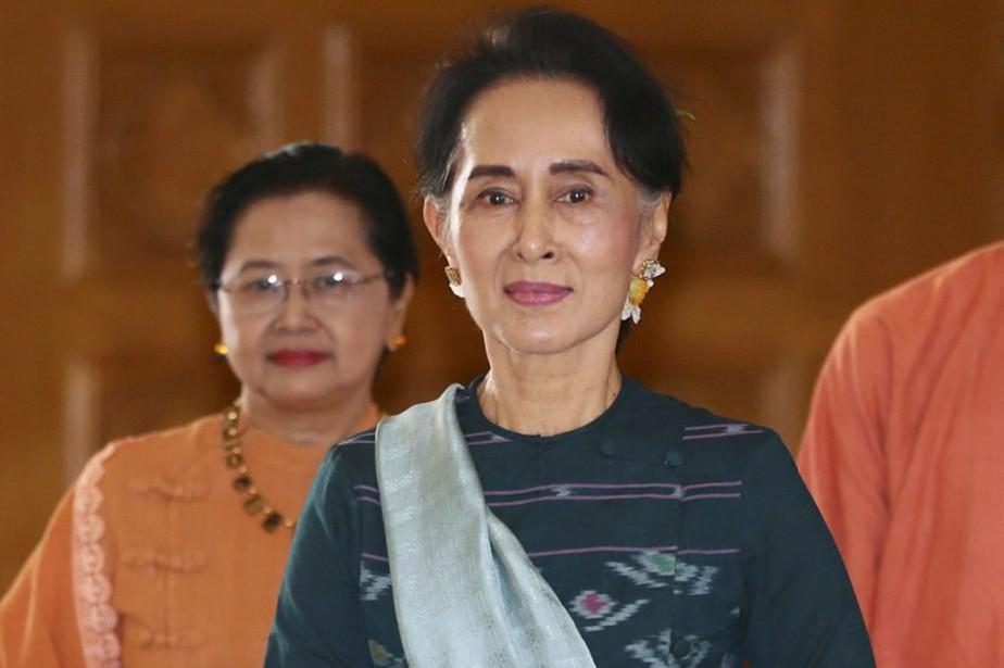 Égérie des opposants à la junte, Aung San... (Photo Gemunu Amarasinghe, Archives AP)