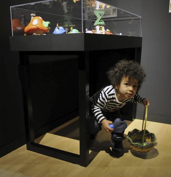 Le petit Keyla Gbazaï, trois ans, avait l'air très coquin. (Photo Le Progrès-Dimanche, Rocket Lavoie)