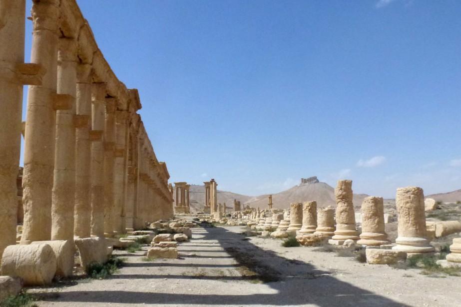 Une vue générale de la cité antique de... (Photo Maher AL MOUNES, AFP)