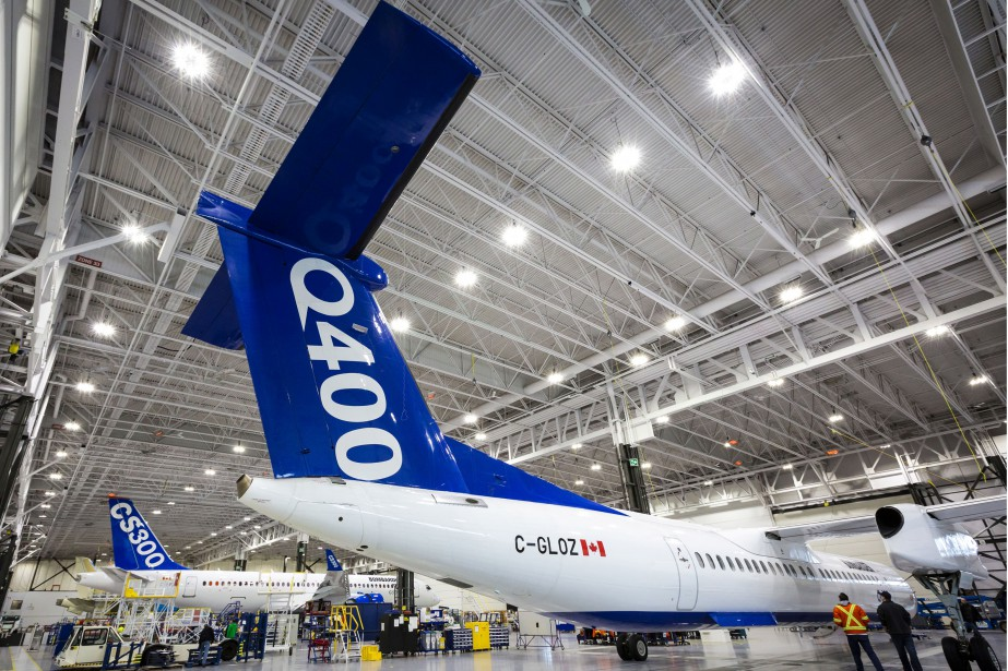 Le modèle Q400 est assemblé en Ontario mais... (Photo fournie par Bombardier)