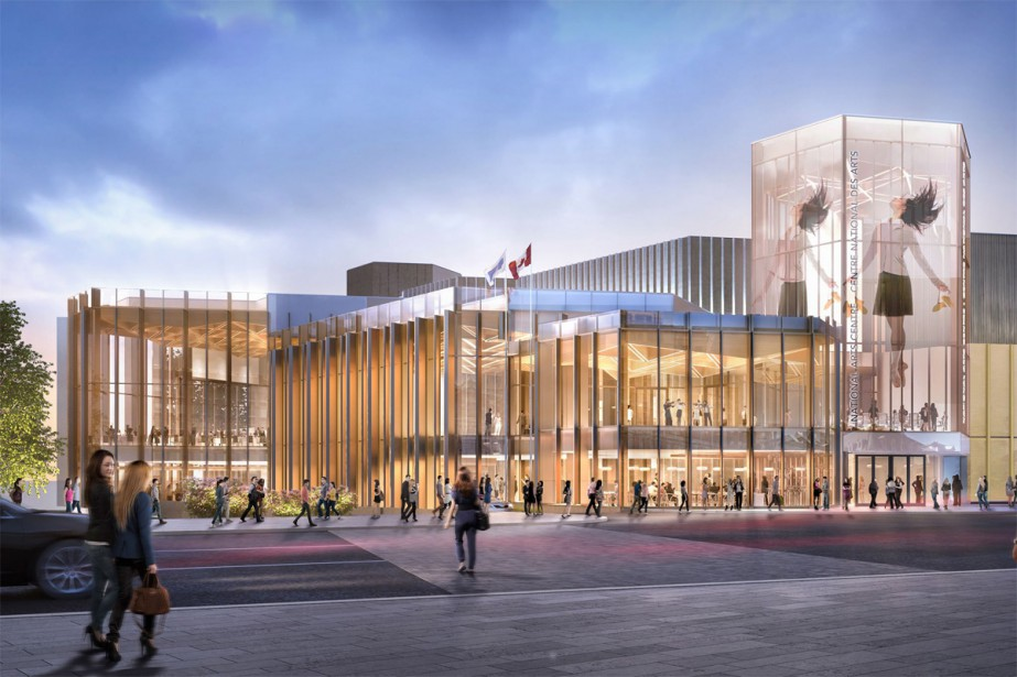 Maquette du nouveau Centre national des arts d'Ottawa.... (IMAGE FOURNIE PAR DIAMOND SCHMITT ARCHITECTS)