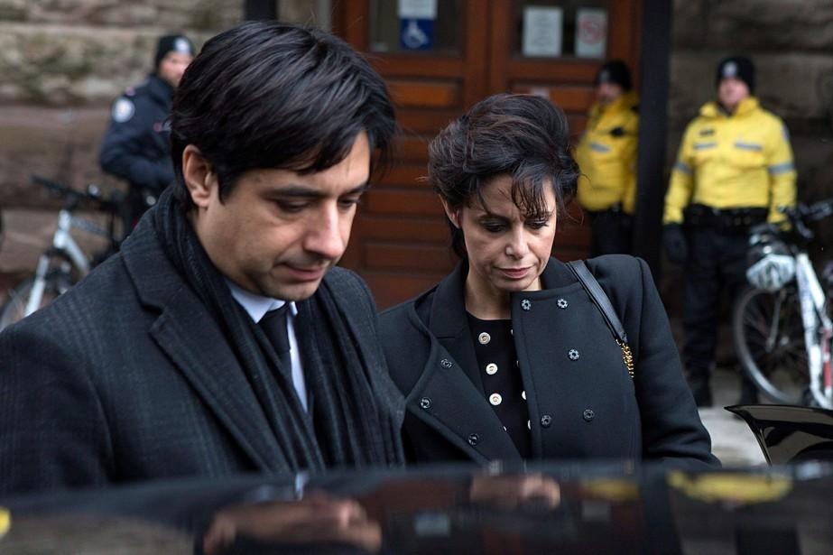 Jian Ghomeshi et son avocateMarie Henein, photographiés le... (Photo Chris Young, archives PC)