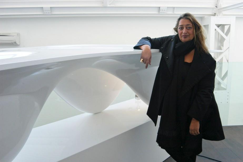 Zaha Hadid a également été la première femme... (PHOTO ALICE FIORILLI/THE NEW YORK TIMES)