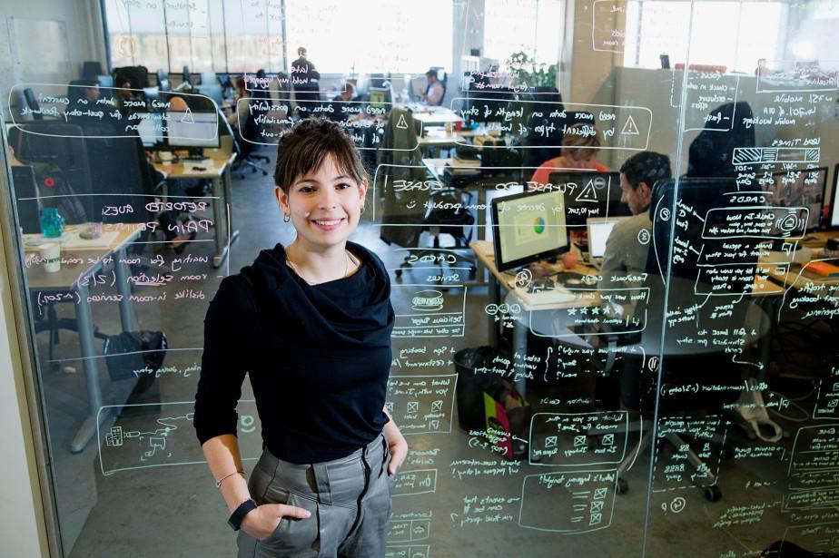 Cassie L. Rhéaume est intégratrice web chez Cossette... (PHOTO ALAIN ROBERGE, LA PRESSE)