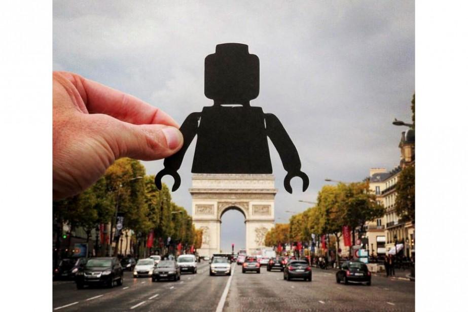 L'Arc de Triomphe de Paris.... (PHOTO TIRÉE DU COMPTE INSTAGRAM DE PAPERBOYO)