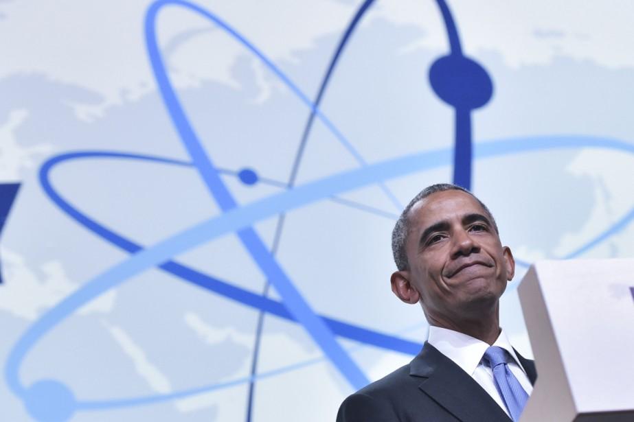 Le président américain était interrogé lors d'une conférence... (Photo AFP)