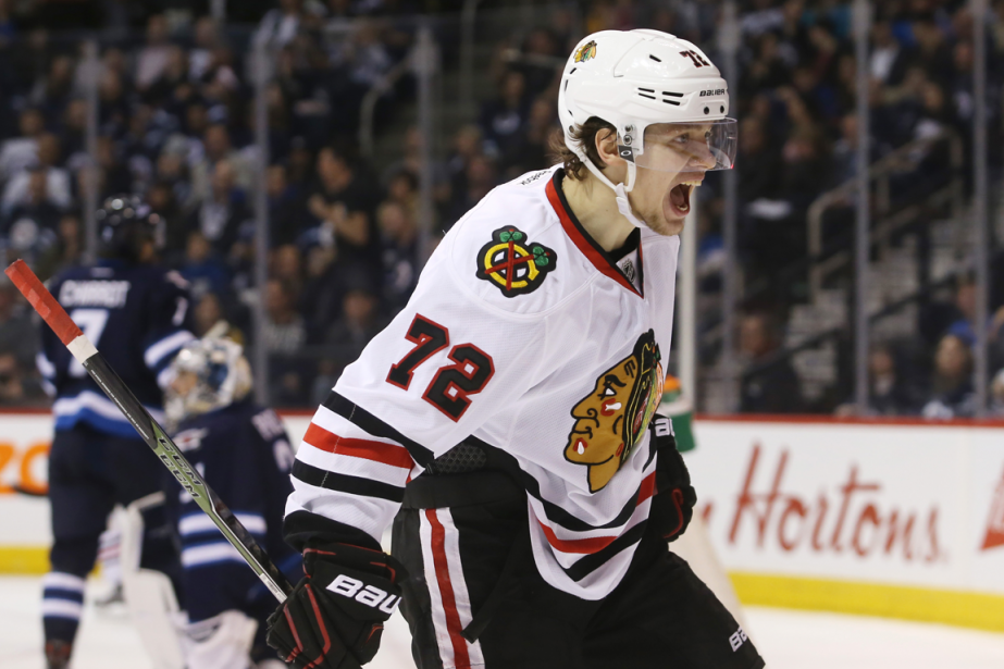 Artemi Panarin a récolté huit points en trois... (Photo Bruce Fedyck, USA Today)