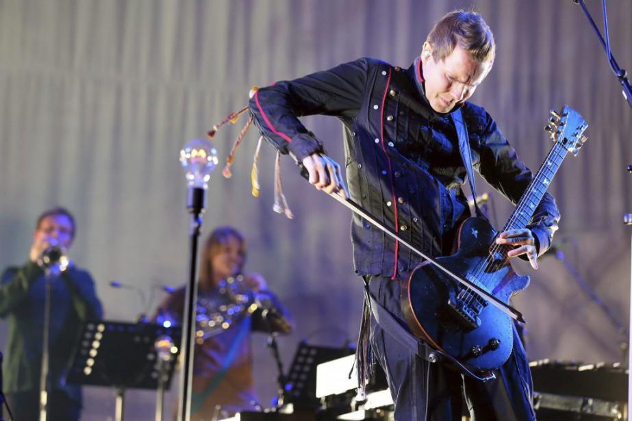Jon Thor Birgisson, guitariste et chanteur du groupeSigur... (PHOTO ARCHIVES AFP)