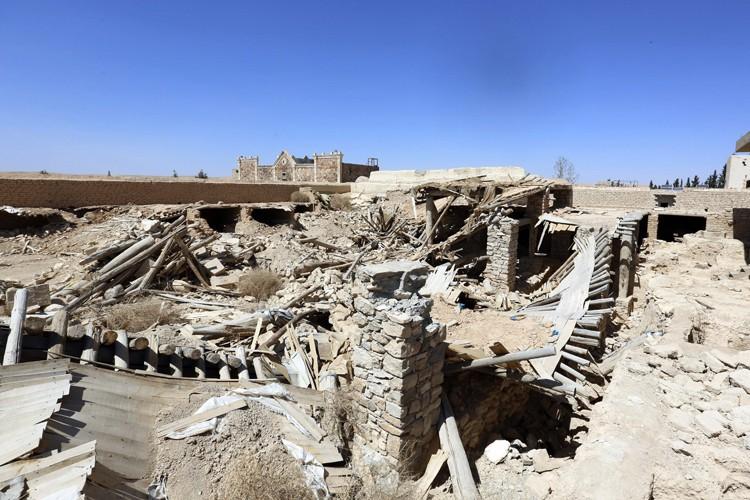 L'EI a détruit une églisede Mar Elian enutilisant... (PHOTO AP)