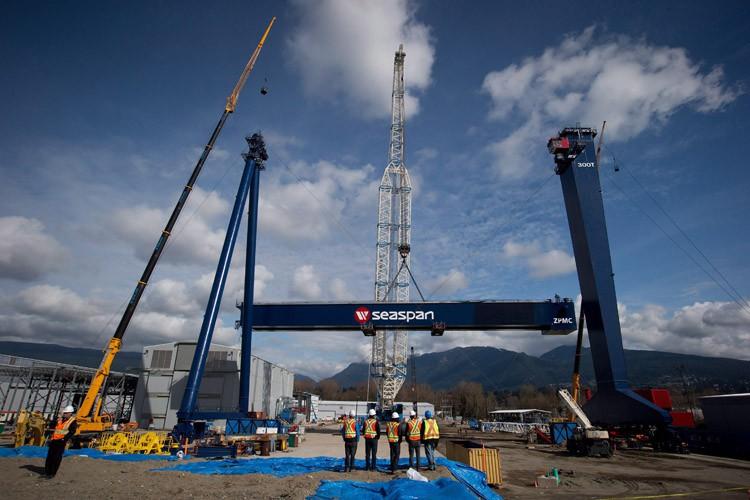 C'est le chantier maritime Seaspan, de Vancouver, qui... (PHOTO PC)