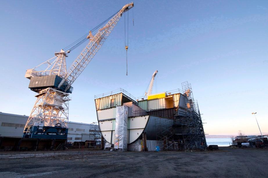 Davie, le chantier maritime de Lévis, tente par... (PHOTOJacques Boissinot, Archives La Presse Canadienne)