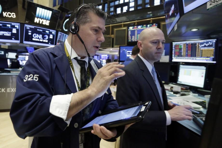 Le Dow Jones a perdu 0,75% et le... (Photo Richard Drew, AP)