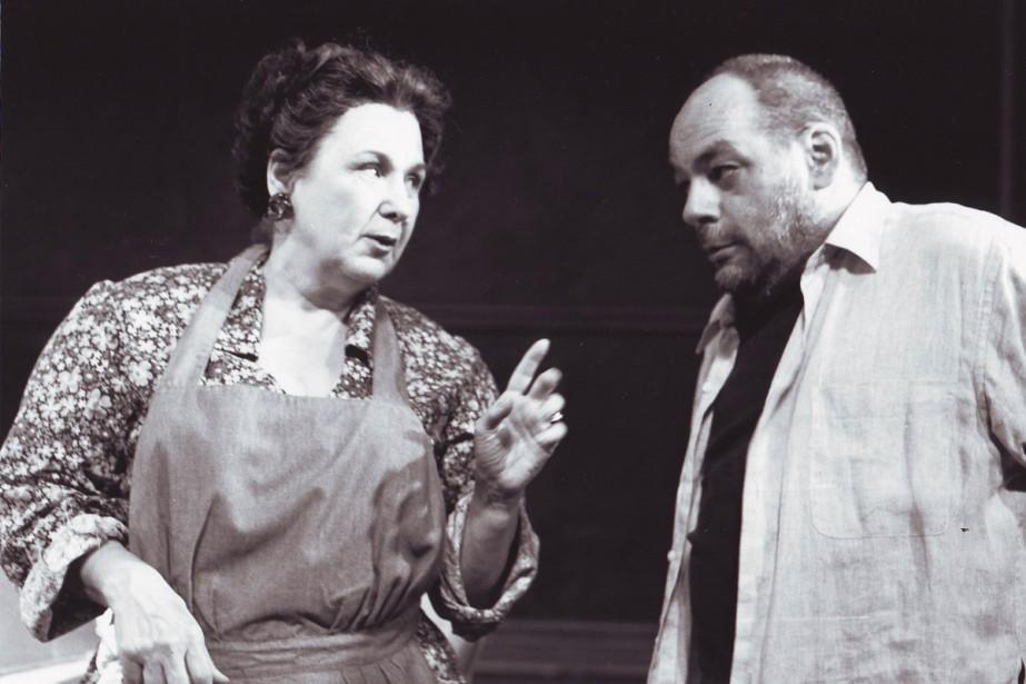 Rita Lafontaine et André Brassard lors de la création de la pièce <em>Encore une fois si vous le permettez</em> en 1998. (PHOTO PIERRE DESJARDINS)