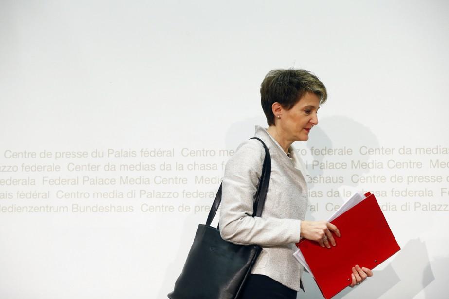 La ministre suisse de l'Intérieur, Simonetta Sommaruga.... (PHOTO RUBEN SPRICH, ARCHIVES REUTERS)