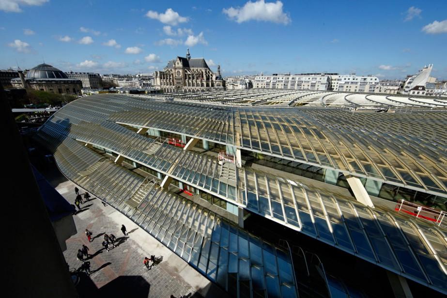 Une vue d'ensemble de La Canopée, aux Halles... (PHOTO REUTERS)