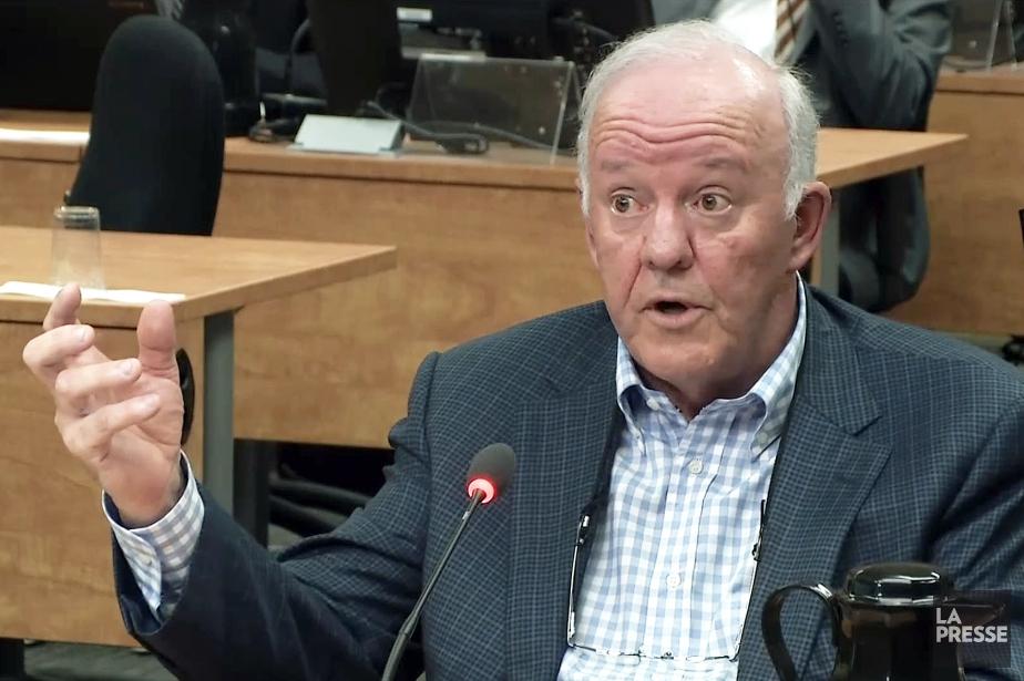 L'ex-ministre libéral Marc-Yvan Côté, lors de son passage... (IMAGE TIRÉE D'UNE VIDÉO, LA PRESSE)
