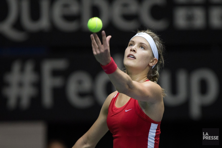 Eugenie Bouchard lors de sa dernière participation à... (Photo Robert Skinner, archives La Presse)
