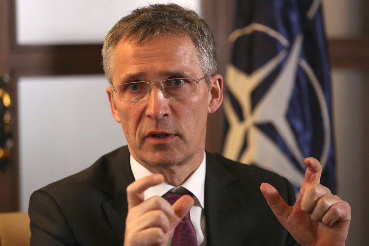 Le secrétaire général de l'OTAN, Jens Stoltenberg.... (PHOTO AP)