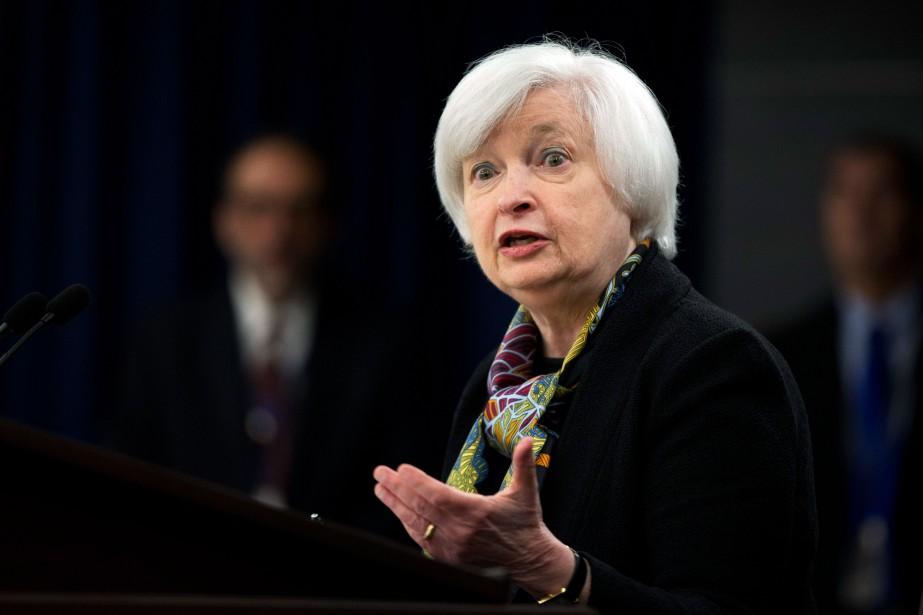 Janet Yellen, présidente de la Réserve fédérale américaine... (PhotoManuel Balce Ceneta, Archives Agence France-Presse)