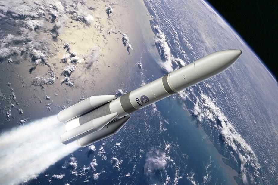 Dessin de la fuse Ariane 6.... (Image fournie par l'Agence spatiale europenne)