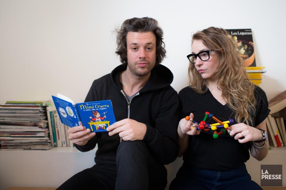 Mickaël Gouin etLéane Labrèche-Dor sont les principaux comédiens... (PHOTO OLIVIER PONTBRIAND, LA PRESSE)