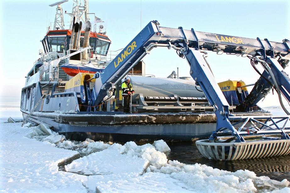 Antti Rajaniemi, 37 ans, capitaine du brise-glaceAhto, n'est... (PHOTO SAM KINGSLEY, AFP)
