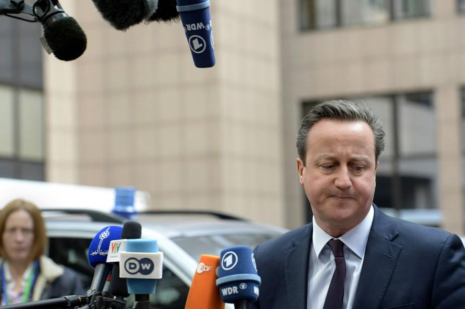 David Cameron a souligné dans une interview à... (PHOTO THIERRY CHARLIER, ARCHIVES AFP)