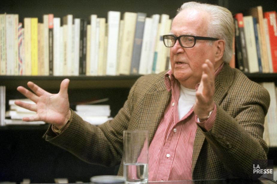 Le dramaturge Marcel Dubé en octobre 2000....