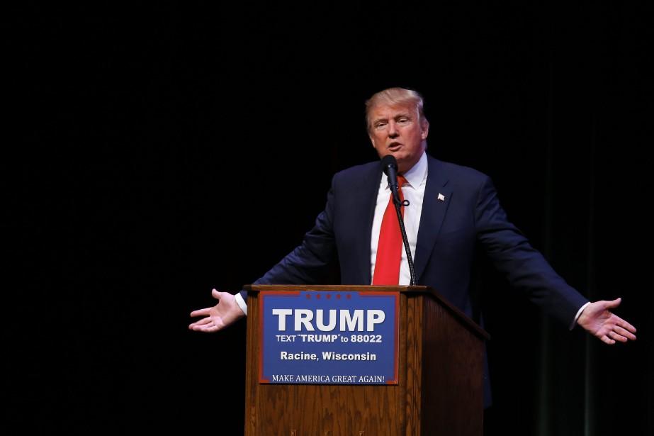 Le candidat à l'investiture républicaine Donald Trump, le... (AP, Paul Sancya)