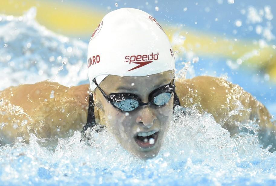 La nageuse Katerine Savard pendant les jeux panaméricains... (PHOTO FRANK GUNN, archives LA PRESSE CANADIENNE)