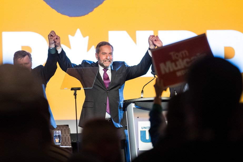 Le chef du NPD, Thomas Mulcair, a prononcé... (PHOTO EDOUARD PLANTE-FRÉCHETTE, LA PRESSE)